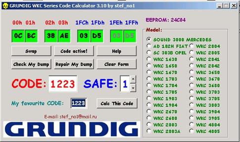 Renault Radio Code generator rar