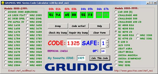 Code Car Radio Calculator Free Download Philips